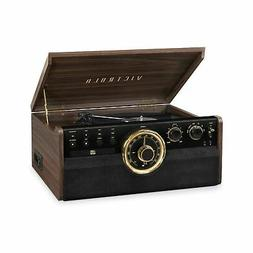 Victrola 6-in-1 Wood Bluetooth Mid Century Record Player wit
