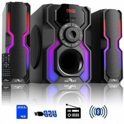 2 1 channel bluetooth speaker shelf home