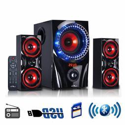 beFree Sound 2.1 Channel Surround Sound Bluetooth USB/SD Spe