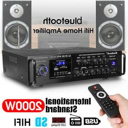 bluetooth 2000W 2Channel 110V Home Stereo Power Mix System M