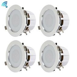3.5'' Bluetooth Ceiling/Wall Speakers, 4 2-Way Speakers