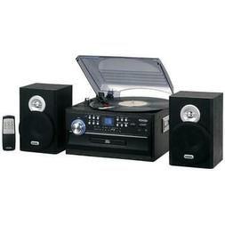3-Speed Stereo Turntable Music System with CD/Cassette and A
