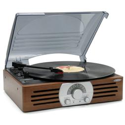 3 Speed Stereo Turntable with AM FM Stereo Radio