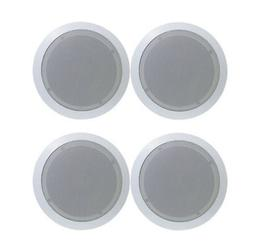"""4) NEW PYLE PDIC81RD 8"""" 1000W Round Wall And Ceiling Home Sp"""