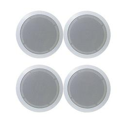 4) Pyle PDIC51RD 5.25 Inch 150W Round White In Ceiling Wall