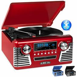 Victrola 50's Retro Record Player Stereo Bluetooth USB Encod