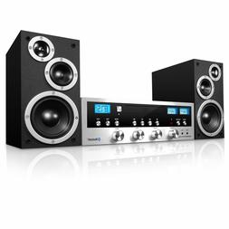 Bluetooth Home Classic Shelf Stereo System CD Player PLL FM