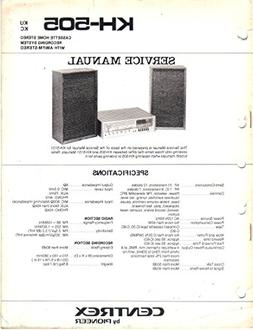 CENTREX KH-505 KU KC Cassette Home Stereo System AM FM Servi