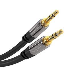 KabelDirekt Pro Series 25 feet  3.5mm Audio Aux Cord, 24k Go