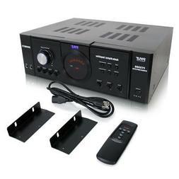 Pyle PT3300 3000 Watt 4 Channel 3U Power Amplifier VFD Displ