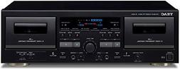 TEAC W-1200-B Double Cassette Deck CD Player