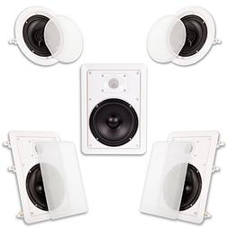 Acoustic Audio HT65 In Wall and In Ceiling 6.5 Home Theater