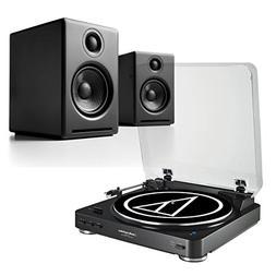 AudioTechnica ATLP60 Stereo Turntable & Audioengine A2+ Desk