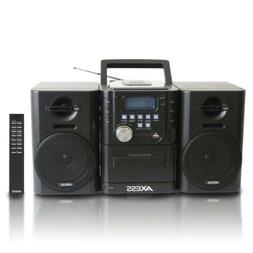 AXESS Mini Entertainment System with AM/FM, USB, CD, MP3 Pla