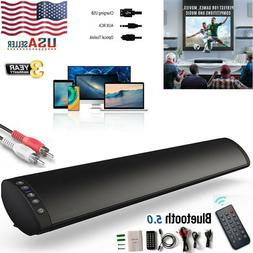 Bluetooth 5.0 Sound Bar Stereo Speaker System TV Home Theate