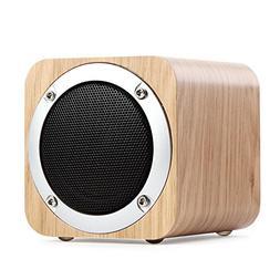 Rundaotong-US Bluetooth Wood Speaker Portable, Super Bass, F