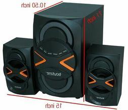 boytone BT-326F 2.1 Speaker System - 60 W RMS - Wireless Spe