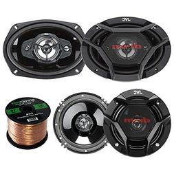 "Car Speaker Bundle Combo: 2x JVC DR620 6.5"" 2-Way 600 Watt A"