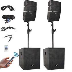 PRORECK Club 3000 12-Inch 3000 Watt DJ/Powered PA Speaker Sy