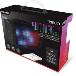 Coby CSBT-331-BLK Light Up Bluetooth Stereo Block Speaker