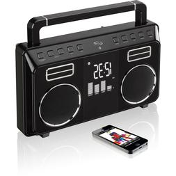 COOL iLive Retro-Style Bluetooth Boombox ~ BRAND NEW ~ FAST