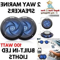 5.25 Inch Dual Marine Speakers - 2 Way Waterproof and Weathe