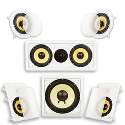 "Acoustic Audio HD-516 Flush Mount 5.1 Speakers with 6.5"" Woo"
