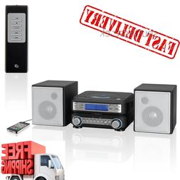 Home Audio System Stereo MP3 Radio Speakers Portable Compact