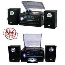 JENSEN HOME STEREO CD/CASSETTE/RECORD PLAYER TURNTABLE SYSTE