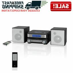 Home Stereo System CD Player Radio Shelf Speakers Auxillary
