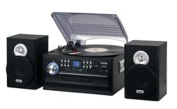 Jensen Home Stereo System Turntable CD Player AM/FM Radio Ca