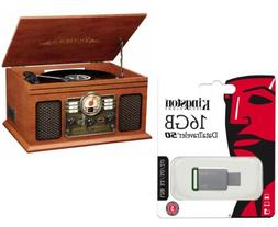 Home Stereo System With Turntable Bluetooth & Kingston USB 3