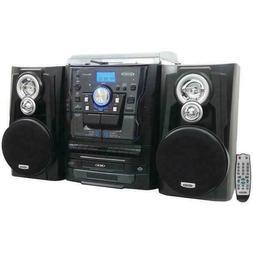 Jensen Home Stereo System Shelf Record Player 3 CD Changer C