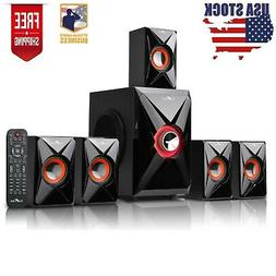 Home Theater Bluetooth Stereo System 5.1 Channel Audio Surro