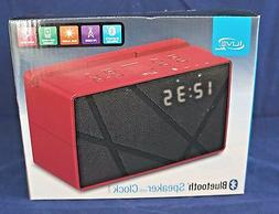 iLive iCB284R Bluetooth FM Clock Radio, Red