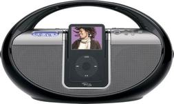 iLive Docking System and Boombox with Speakers for iPod and