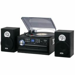 Jensen 3-Speed Stereo Turntable with CD System, Cassette and