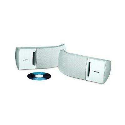 161 speaker system pair white ideal