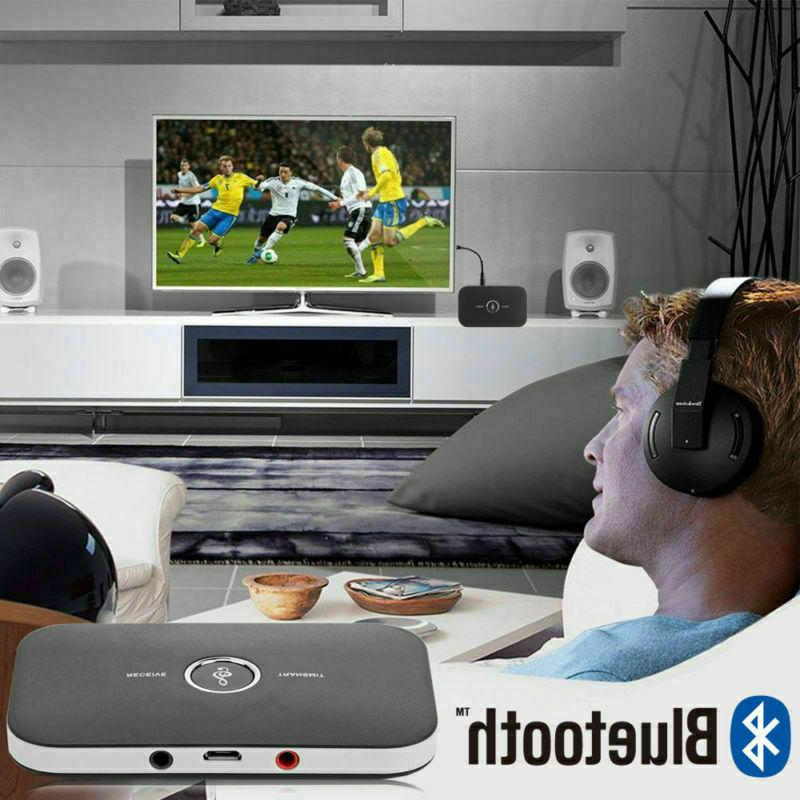 2in1 Bluetooth Audio Transmitter Receiver Adapter for Home Stereo System