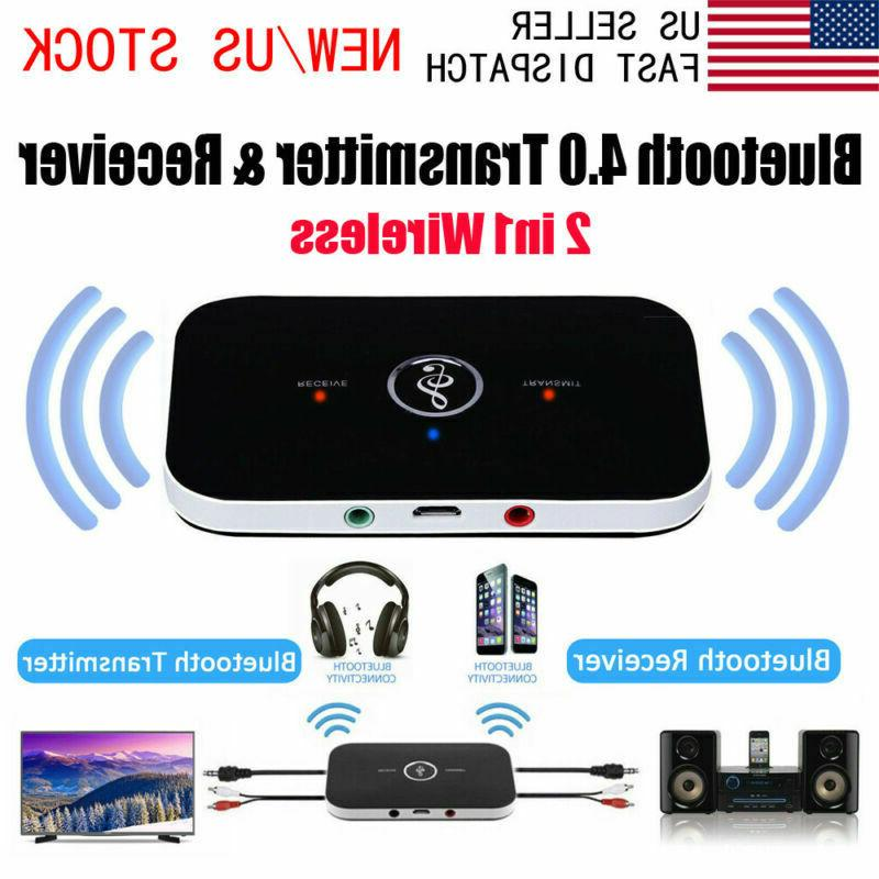 2in1 bluetooth audio transmitter receiver aux adapter