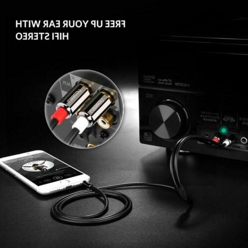 UGREEN 2RCA Audio Auxiliary Splitter