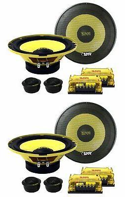 """PYLE PLG6C 6.5"""" 800W 2 Way Car Audio Component Speakers Set"""