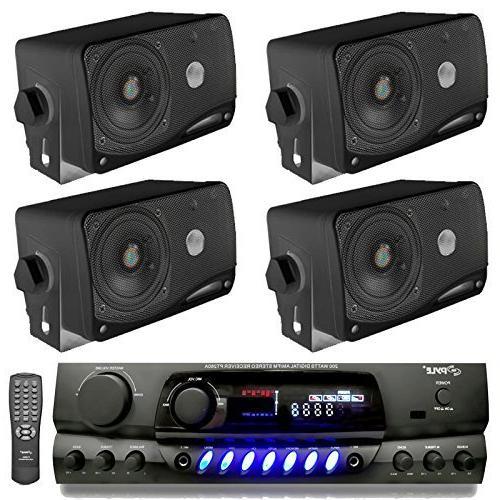 4 pyle plmr24b speakers