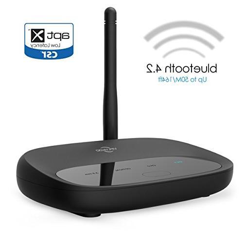 Bluetooth 4.2 Transmitter Receiver, Viflykoo 164ft Long Rang