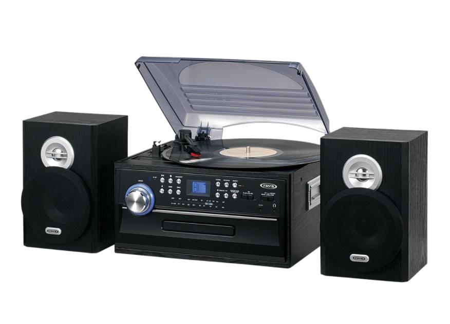 Home Stereo System Radio Cd Player Combo Record 3-Speed Turn