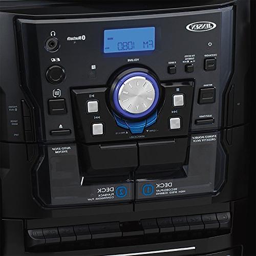 Jensen Bluetooth Stereo Turntable CD Changer Cassette Deck