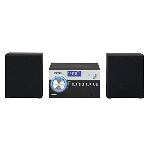 Jensen Black JBS-200B Bluetooth CD Music Stereo Aux-In, & Remote Control