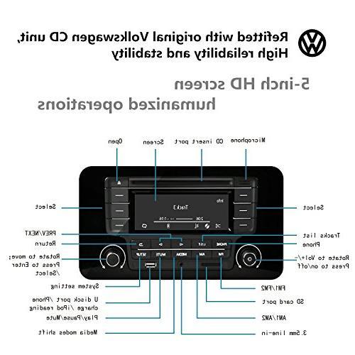 KEiiD Compact CD/MP3 Stereo Hi-Fi Portable Home Audio Music Shelf with Radio Control