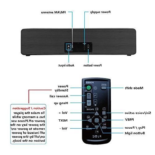 KEiiD Player Stereo Hi-Fi Portable Home Component Shelf Radio Control USB