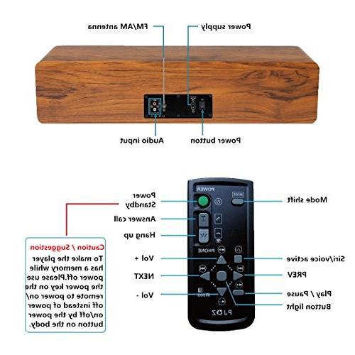 KEiiD Compact Player Stereo Hi-Fi Speaker Home Music Shelf Radio Control USB SD